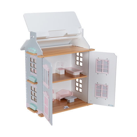 Wooden Cottage Dolls House